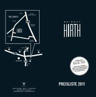 PREISLISTE 2011 - Weingut Hirth
