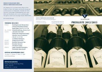 PREISLISTE 2012/2013 - Weingut-Ellwanger