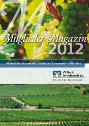 Mitglieder-Magazin 2012 - VR Bank Mittelhaardt eG