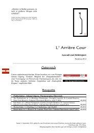 Preisliste aktuell - arriere-cour