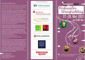 28. Mai 2012 ab 11:00 Uhr - Weinort Birkweiler