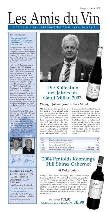 Unser Sortiment von Weinen bis EUR 30,00 - les amis du vin AG