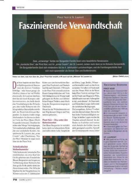 Faszinierende Verwandtschaft Pinot noir & St ... - Weingut JURIS