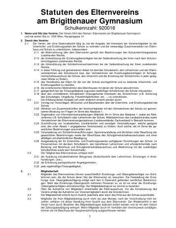 Statuten des Elternvereins am Brigittenauer Gymnasium
