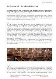 Der Weingipfel 2011 – Teil 2: Dreierlei Pinot Noir - Sigi Hiss
