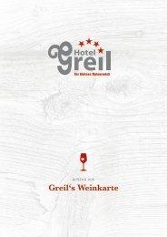 unsere aktuelle Weinkarte (Auszug als PDF) - Hotel Greil