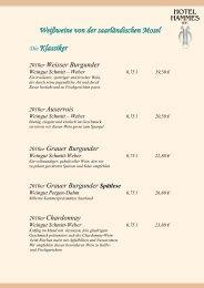finden Sie unsere Weinkarte (PDF) - Hotel Hammes