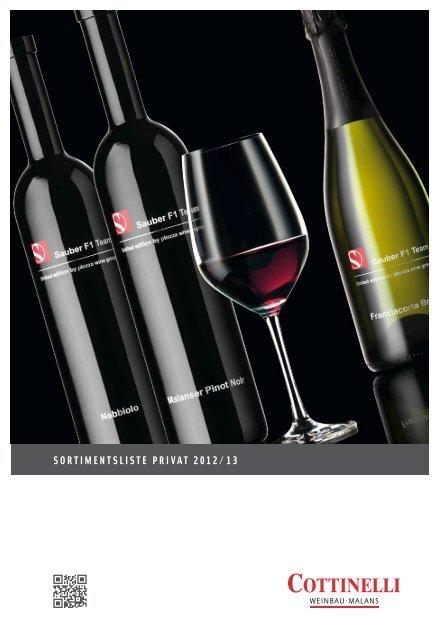 vinoteca – einladung zum Genuss - Cottinelli Weine