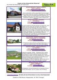 Urlaub auf dem Kaiserstühler Winzerhof Hier finden ... - Kaiserstuhl