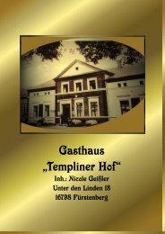 """Gasthaus """"Templiner Hof"""" -"""