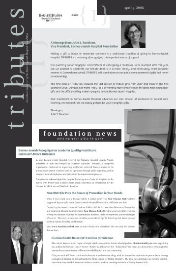 foundation news - Barnes-Jewish Hospital
