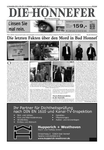 Jens Wilke, Telefon 0 22 24 / 181-149 - Die Bad Honnefer ...