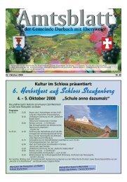 6. Herbstfest auf Schloss Staufenberg 4. – 5. Oktober 2008 - Durbach