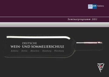 Seminarprogramm 2011 - Deutsche Wein