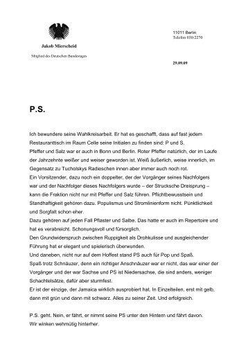 MdB-Kopfbogen leer - Deutscher Bundestag