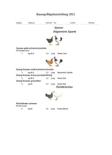 Katalog der SS-Schau Sussex - SV Sussex