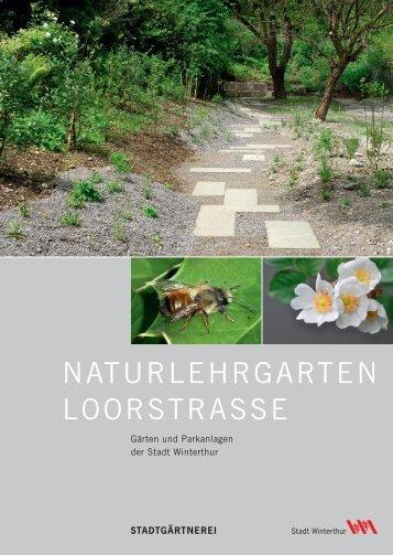 Flyer Naturlehrgarten Loorstrasse (PDF) - Klinger Kommunikation
