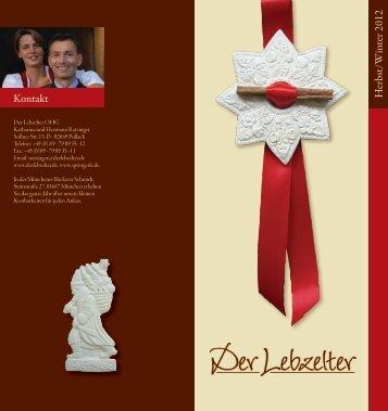 PDF Flyer Herbts/Winter 2012 downloaden - Der Lebzelter
