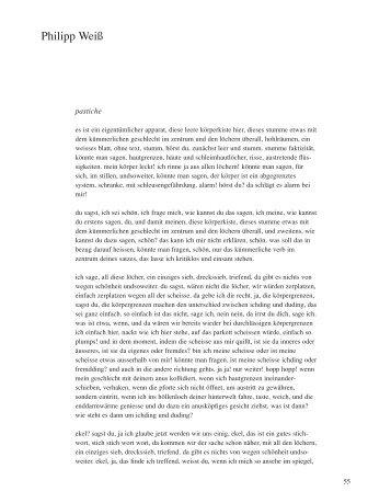Philipp Weiss - Manuskripte