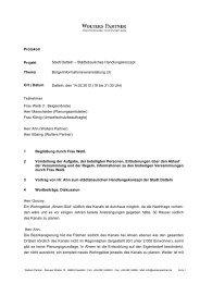 Protokoll Projekt Stadt Datteln – Städtebauliches Handlungskonzept ...