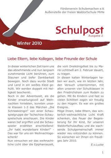 Schulpost Winter 2010 - Freie Waldorfschule AM PRENZLAUER ...