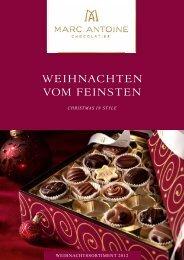 Weihnachten 2012 - Läderach chocolatier suisse