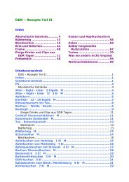 DDR – Rezepte Teil II - Glutenfrei kochen backen