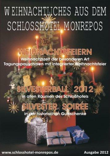 Weihnachtliche Buffets Weihnachtliches Buffet 1 - Schlosshotel ...