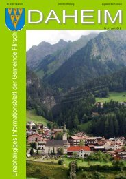 """""""150 Jahre - Musikkapelle Flirsch"""" von 24.-26. August 2012"""
