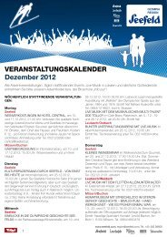 Veranstaltungskalender Dezember 2012 - Olympiaregion Seefeld