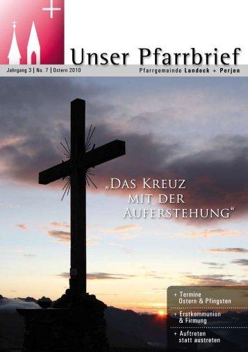 """""""Das Kreuz mit der Auferstehung"""" - Pfarren Landeck"""