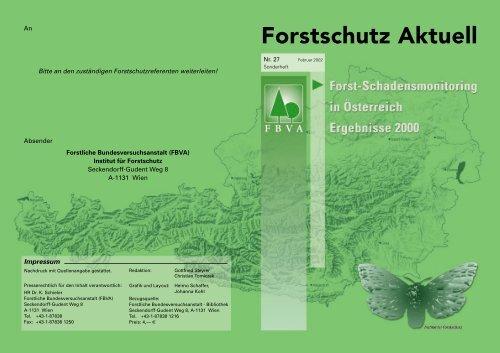 Lawinen und Muren 2000 - BFW