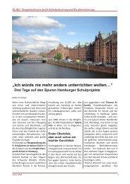 Drei Tage auf den Spuren Hamburger Schulprojekte