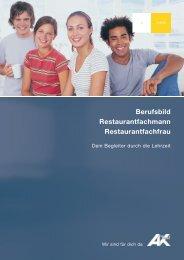 Berufsbild Restaurantfachmann Restaurantfachfrau - AK - Tirol