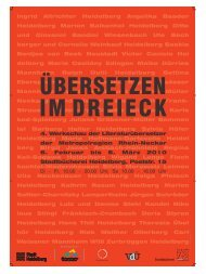 Ingrid Altrichter Heidelberg Angelika Baader Heidelberg ... - VdÜ