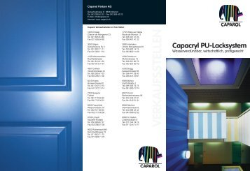 Capacryl Aqua PU-Alkyd-Satin - Caparol Farben AG