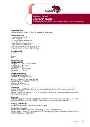 Vorlack Weiß - Louis Gnatz GmbH