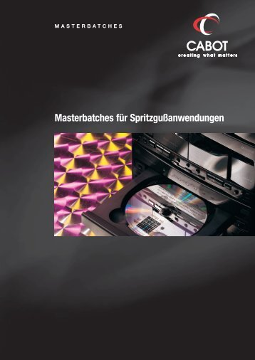 Schwarze Masterbatches - Cabot Corporation