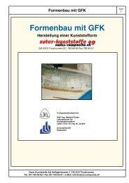 Formenbau mit GFK - Suter Swiss-Composite Group
