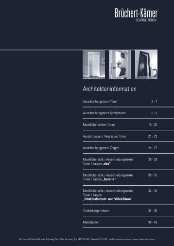 Architekteninformation - Brüchert + Kärner