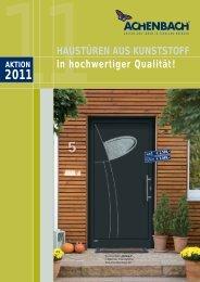 aktion 2011 haustüren aus kunststoff - Achenbach Fensterbau GmbH