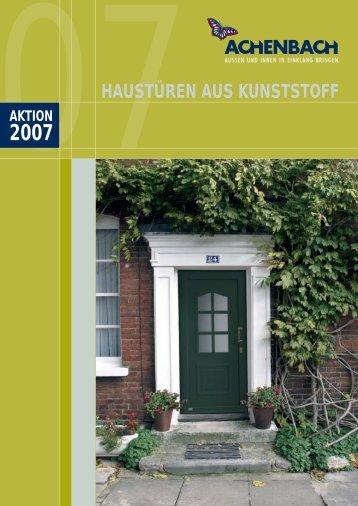 HAUSTÜREN AUS KUNSTSTOFF - Achenbach Fenster und Türen ...