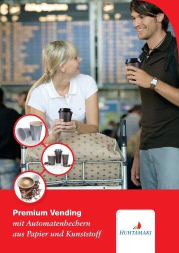 Premium Vending mit Automatenbechern aus Papier und Kunststoff