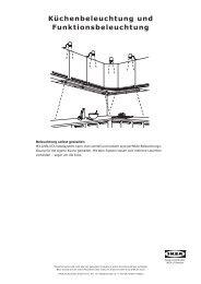 Küchenbeleuchtung und Funktionsbeleuchtung - Ikea