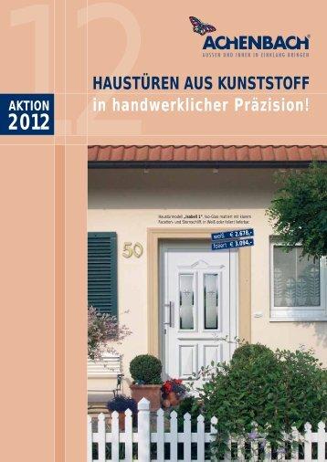 aktion 2012 haustüren aus kunststoff - Achenbach Fensterbau GmbH