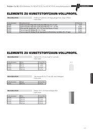 Alu- und Kunststoffzäune / Wände - Pletscher + Co. AG
