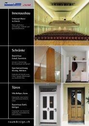 Innenausbau Schränke Türen - H&T Raumdesign AG