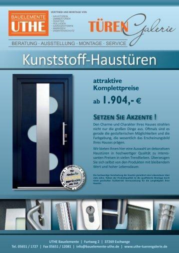 Kunststoff-Haustüren - bei Bauelemente Uthe