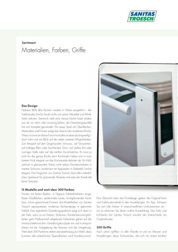 """Materialien, Farben, Griffe"" (874 - Sanitas Troesch AG"