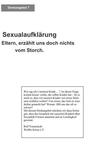 Sexualaufklärung Eltern, erzählt uns doch nichts ... - Weißes Kreuz